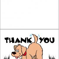 Printable Thank You Dog Card - Printable Thank You Cards - Free Printable Cards