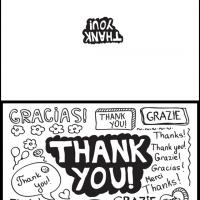 Printable Thank You in Different Languages - Printable Thank You Cards - Free Printable Cards