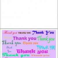 Thank You Notes In Different Fonts