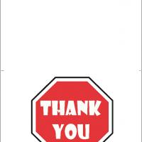 Printable Thank You Road Sign - Printable Thank You Cards - Free Printable Cards
