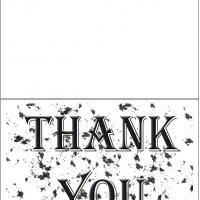 Printable Thank You Speckled Card - Printable Thank You Cards - Free Printable Cards