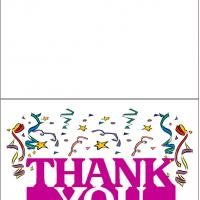Printable Thank You With Ribbons - Printable Thank You Cards - Free Printable Cards