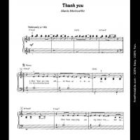 Printable thank you - Printable Piano Music - Free Printable Music