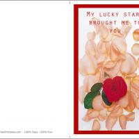 Printable Thanking Your Lucky Stars - Printable Valentines - Free Printable Cards