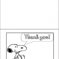 Printable Thanks From Snoopy - Printable Thank You Cards - Free Printable Cards