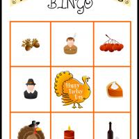 Printable Thanksgiving Bingo Card 1 - Printable Bingo - Free Printable Games