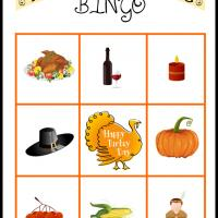 Printable Thanksgiving Bingo Card 2 - Printable Bingo - Free Printable Games