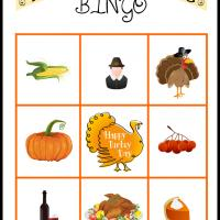 Printable Thanksgiving Bingo Card 3 - Printable Bingo - Free Printable Games