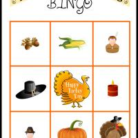 Printable Thanksgiving Bingo Card 4 - Printable Bingo - Free Printable Games