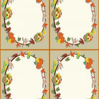 Printable Thanksgiving Bounty Place Card - Printable Place Cards - Free Printable Cards