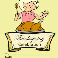 Thanksgiving Cooking Party Invitation