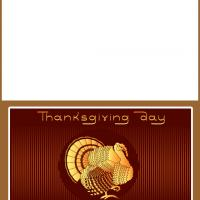 Printable Thanksgiving Day Card - Printable Greeting Cards - Free Printable Cards