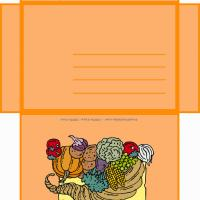 Printable Thanksgiving Envelope - Printable Card Maker - Free Printable Cards