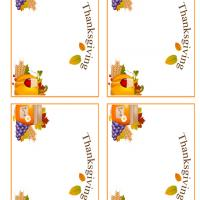 Printable Thanksgiving Feast Place Cards - Printable Place Cards - Free Printable Cards