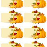 Printable Thanksgiving Harvest Place Cards - Printable Place Cards - Free Printable Cards