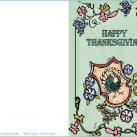 Printable Thanksgiving Turkey Greeting Card - Printable Greeting Cards - Free Printable Cards