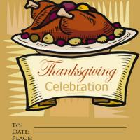 Thanksgiving Turkey Invitation