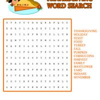 Thanksgiving Word Search Game
