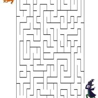 Printable The Pumpkin and the Witch - Printable Mazes - Free Printable Games