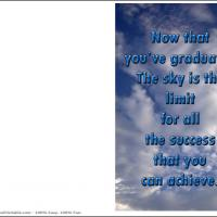 Printable The Sky Is The Limit - Printable Graduation Cards - Free Printable Cards