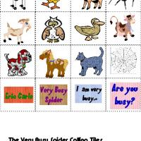 Printable The Very Busy Spider Bingo Tiles - Printable Bingo - Free Printable Games
