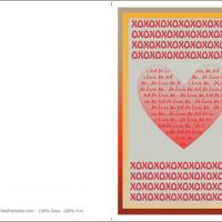 Printable Thousand Hugs And Kisses - Printable Valentines - Free Printable Cards