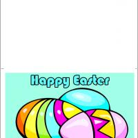 Printable Three Colorful Easter Eggs - Printable Easter Cards - Free Printable Cards