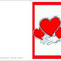 Printable Three Hearts - Printable Valentines - Free Printable Cards