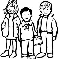 Printable Three Kids of Different Origins - Printable Coloring Sheets - Free Printable Coloring Pages