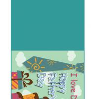 Printable Tie, Present and Cake for Dad - Printable Fathers Day Cards - Free Printable Cards