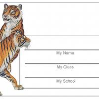 Tigers Name Tag