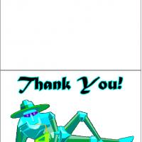 Printable Tin Man Thank You Card - Printable Thank You Cards - Free Printable Cards