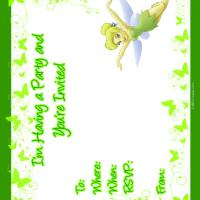 Printable Tinkerbell Fairy Party Invitation - Printable Party Invitation Cards - Free Printable Invitations
