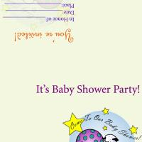 Toy Baby Shower Invitation