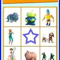 Toy Story Bingo Card 3