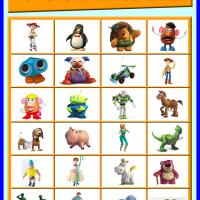 Toy Story Bingo Tiles