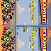 Toy Story Party Time Invitation