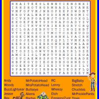 Printable Toy Story Word Search - Printable Word Search - Free Printable Games
