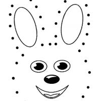 Trace the Dots Uncover the Bunny Worksheet