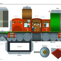 Train Engine Paper Craft