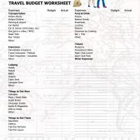 Printable Travel Budget Worksheet - Printable Templates - Free Printable Activities