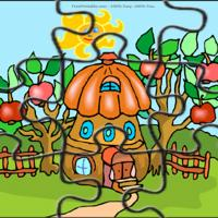 Printable Tree House With Apple Trees - Printable Puzzles - Free Printable Games