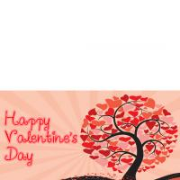 Printable Tree of Hearts - Printable Valentines - Free Printable Cards
