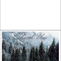Printable Trees In Winter - Printable Thank You Cards - Free Printable Cards
