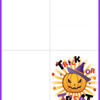 Printable Trick of Treat Pumpkin Card - Printable Greeting Cards - Free Printable Cards
