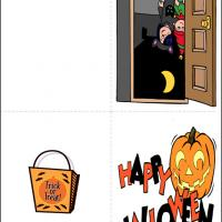 Printable Trick or Treat Card - Printable Greeting Cards - Free Printable Cards