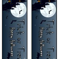 Printable Trick or Treat Halloween Night Bookmark - Printable Bookmarks - Free Printable Crafts