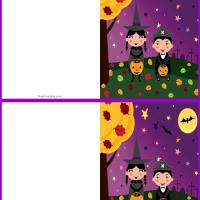Printable Trick or Treat Mini Card - Printable Greeting Cards - Free Printable Cards