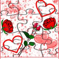 Printable Tricky Roses And Hearts Jigsaw Puzzle - Printable Puzzles - Free Printable Games