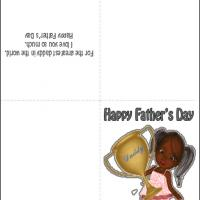 Printable Trophy for Dad - Printable Fathers Day Cards - Free Printable Cards